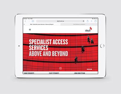 Sky5 – Website, UX/UI