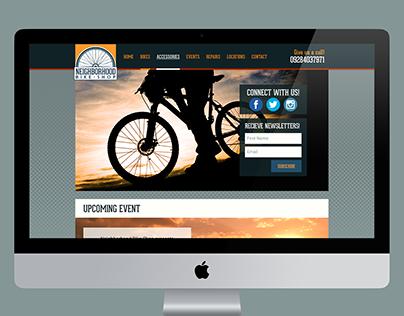 Neighborhood Bike Shop (Web Design and Rebrand Study)