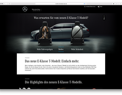 Mercedes-Benz E-Class Estate Website and Campaign
