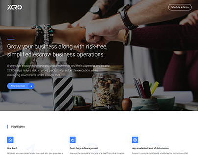 XCRO Product Microsite Landing Page