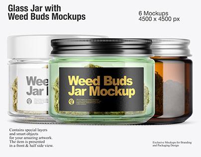 Weed Buds Jar Mockups