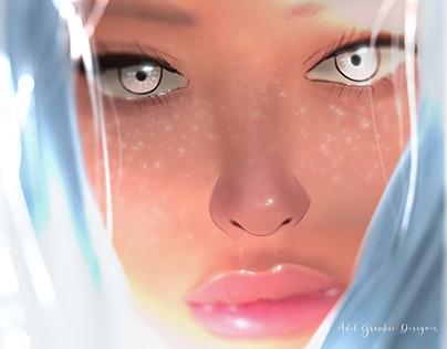 Digital Painting PHOTOSHOP Light and Dark Version