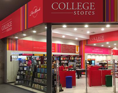 COLLEGE STORES Interior Graphic Design
