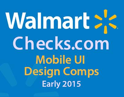 WalmartChecks Mobile UI Design