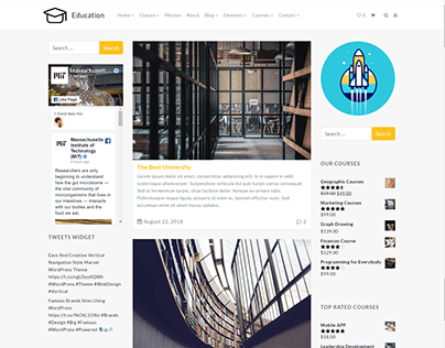 Blog Dual Sidebar Page - Education WordPress Theme