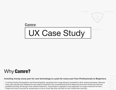 CAMRE-UX Case study for camera rental app