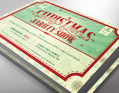 Christmas Show Flyer Template Photoshop
