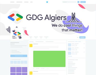 GDG Algiers' Social Media Identity