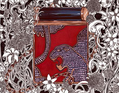 Illustration of Clutch by Maison Valentino