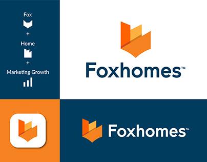 Modern Home Logo, Growth Logo, Fox house logo