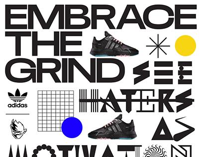 AdidasxNinja collection branding