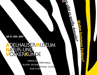 Plakate  für das Natur- und Völkerkundemuseum Freiburg