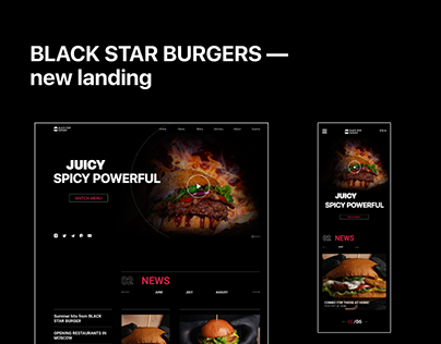 BLACK STAR BURGERS — new landing page