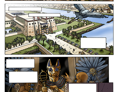 History of Cats Comic Pages