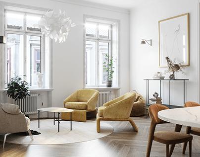 Scandi Airbnb flat