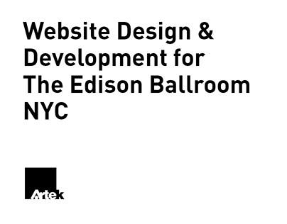 Website Design & Development for The Edison Ballroom