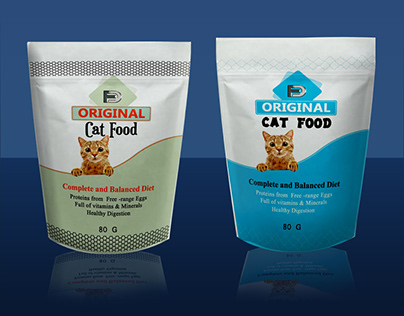 pouch product packaging & label