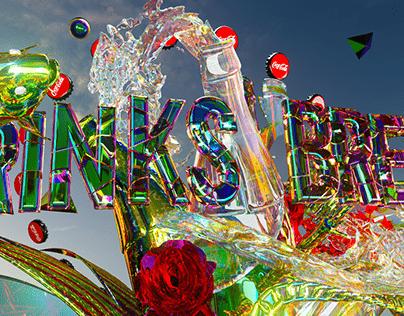 Coca-Cola x Twitch 'Drink Break' Glass Bloom