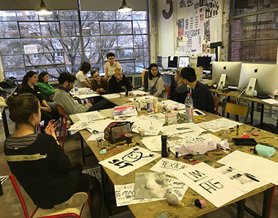 Workshop Paris 2019 Letterin' w/custom tools & collage