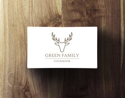 Green Family Cookbook Logo Design