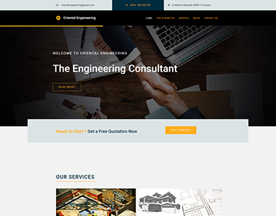 Website Concept for Architecture Company