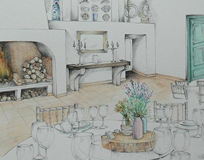 Illustrated interiors