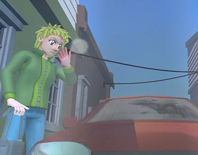 Animated short Cronicas Universitarias: Una fría mañana