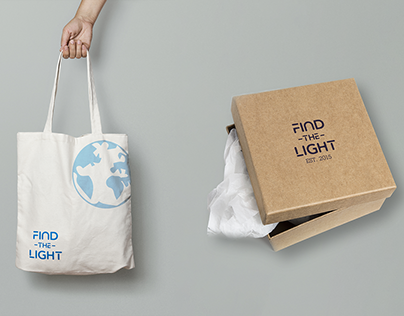 Branding Find The Light, sustainable brand