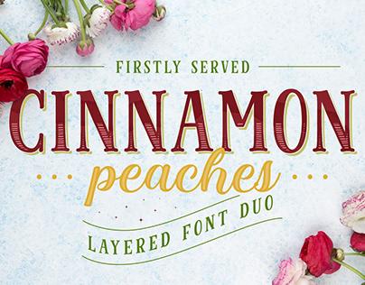 Cinnamon Peaches Font Family