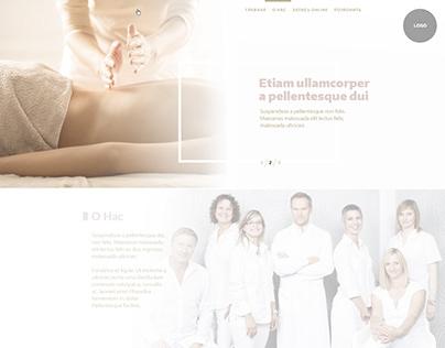 Massage service website