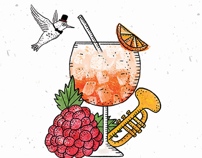 Cocktail menu for Mon Repos restaurant