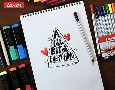 Video | Lettering on paper | Luxor