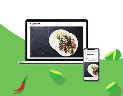 Web Design // Culinary International