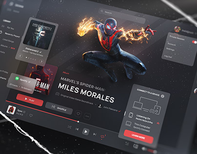 Spotify // Spider-Man: Miles Morales - UI Design