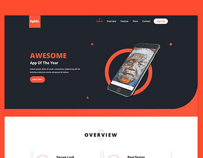 Apkly - App Landing Page HTML Template