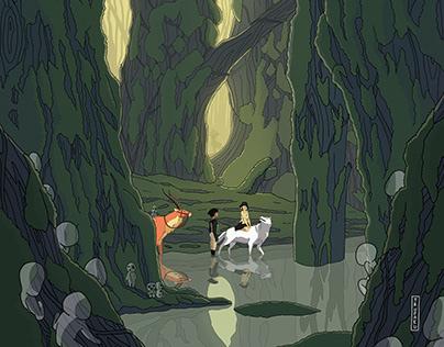 Mononoke Hime Illustration