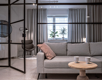 2019: Glass wall helps to redesign apartment