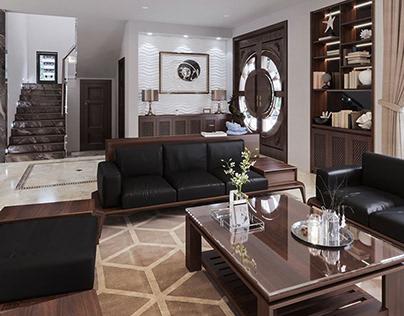 3D Interior Kitchen- Livingroom 60 Scene 3dsmax