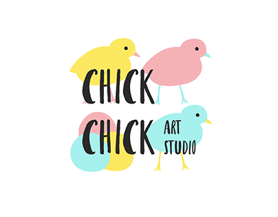 "Corporate identity for art studio ""Chick-Сhick"""