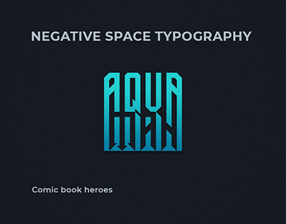 Negative space typography 2