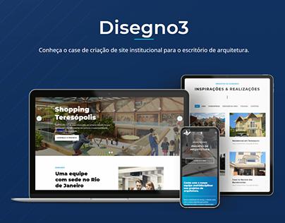 Website da Disegno3 Arquitetura