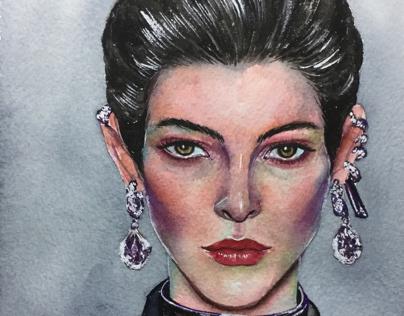 Models(watercolor painting)