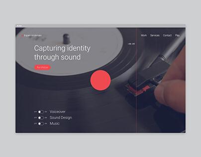 Espen Andersen Website & Audio Visualizer
