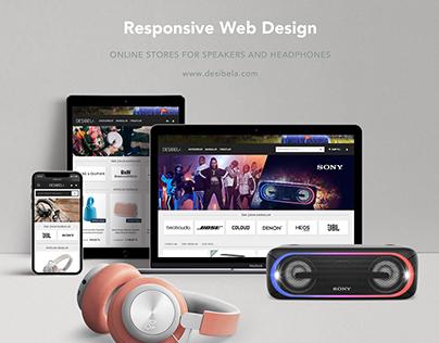 Desibela.com Web Design