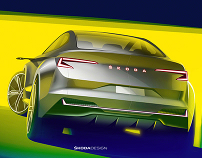 Press sketch - Škoda Vision iV