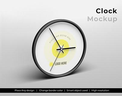 Clock mockup template design