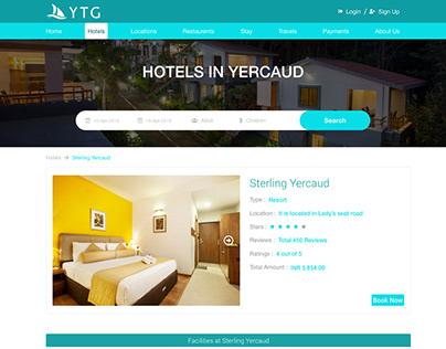 Tourism Website UI Design