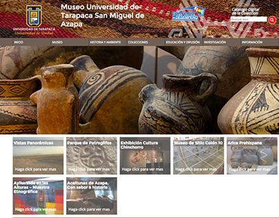Website Colecciones Museo UTA San Miguel de Azapa