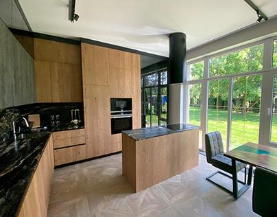 oak veneer kitchen