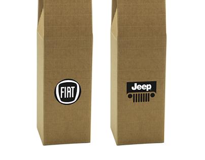 Opakowanie na wino z logo Jeep Fiat